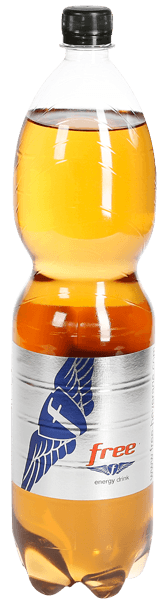 Free energy drink in der 1,5l PET Flasche
